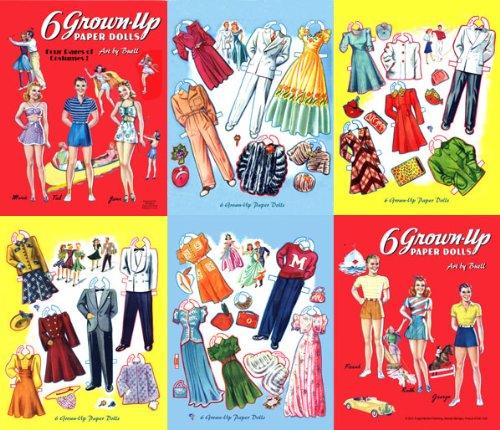 Download 6 Grown-Up Paper Dolls, Restored 1941 PDF