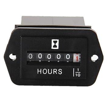 Amazon aimilar dc 6 50v mechanical hour meter hourmeter for aimilar dc 6 50v mechanical hour meter hourmeter for diesel engine generator boat motorcross motor sciox Gallery