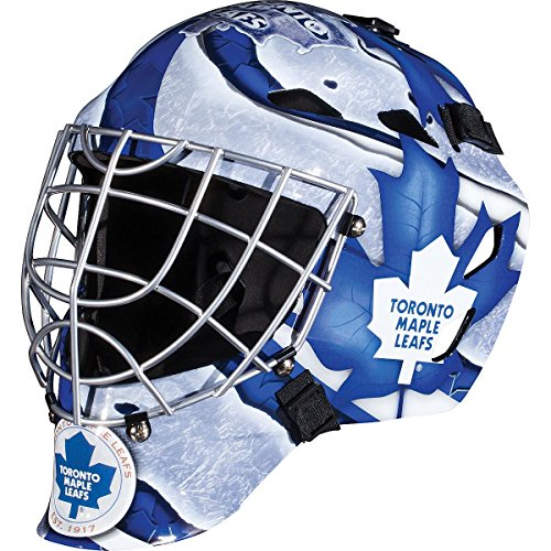 Franklin Sports Toronto Maple Leafs Goalie Mask - Team Graphic Goalie Face Mask - GFM1500 Only for Ball & Street - NHL Official Licensed ()