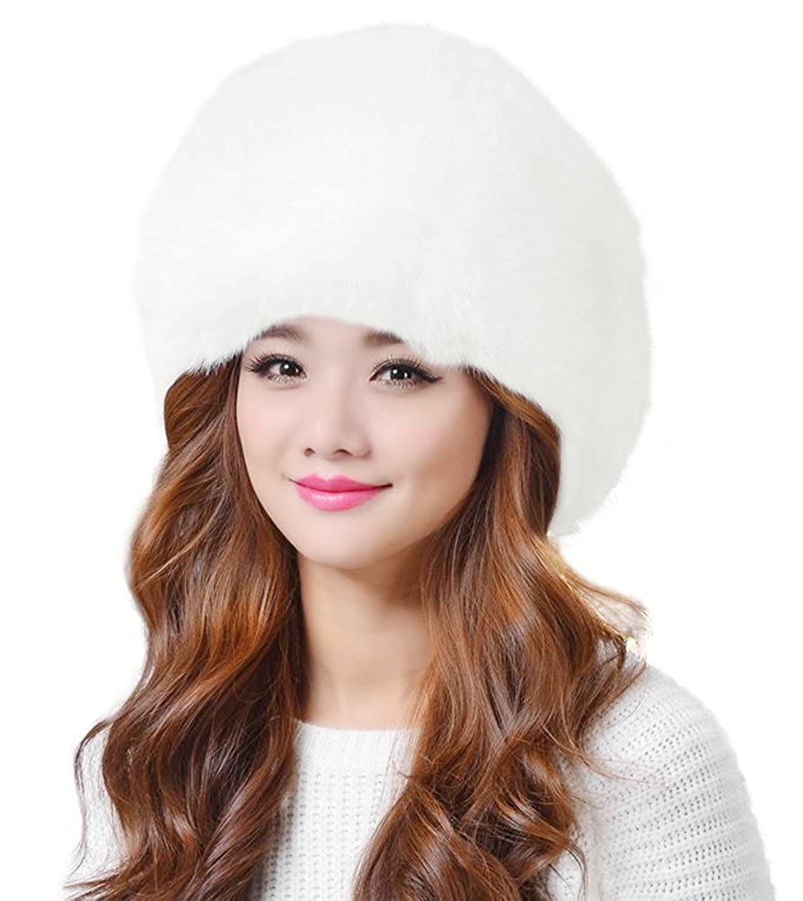Lovful Winter Women Faux Fur Russian Cossack Style Hat Winter Wrap ... 66349bfadc41