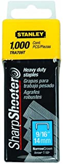 Stanley TRA709T Sharpshooter 9/16' 14mm Heavy Duty Staples, 1000 Count (2 Pack)