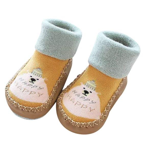 Mitlfuny Niños Niñas Invierno Calentar Tejer Calcetines de Piso de Algodón para Recién Nacido Bebé Zapatillas