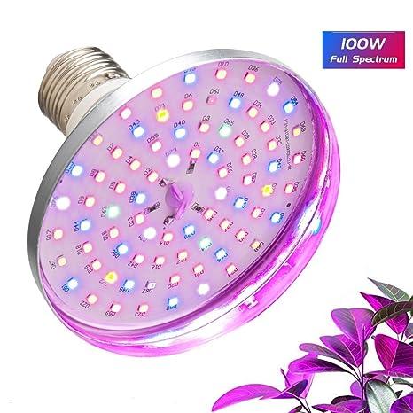 LED Grow Light Bulb Relassy 100W Equivalent Plant Light Full Spectrum Grow  Lamp PAR38 LED Plant Growing Light Bulb E26/E27 Grow Lights for Indoor