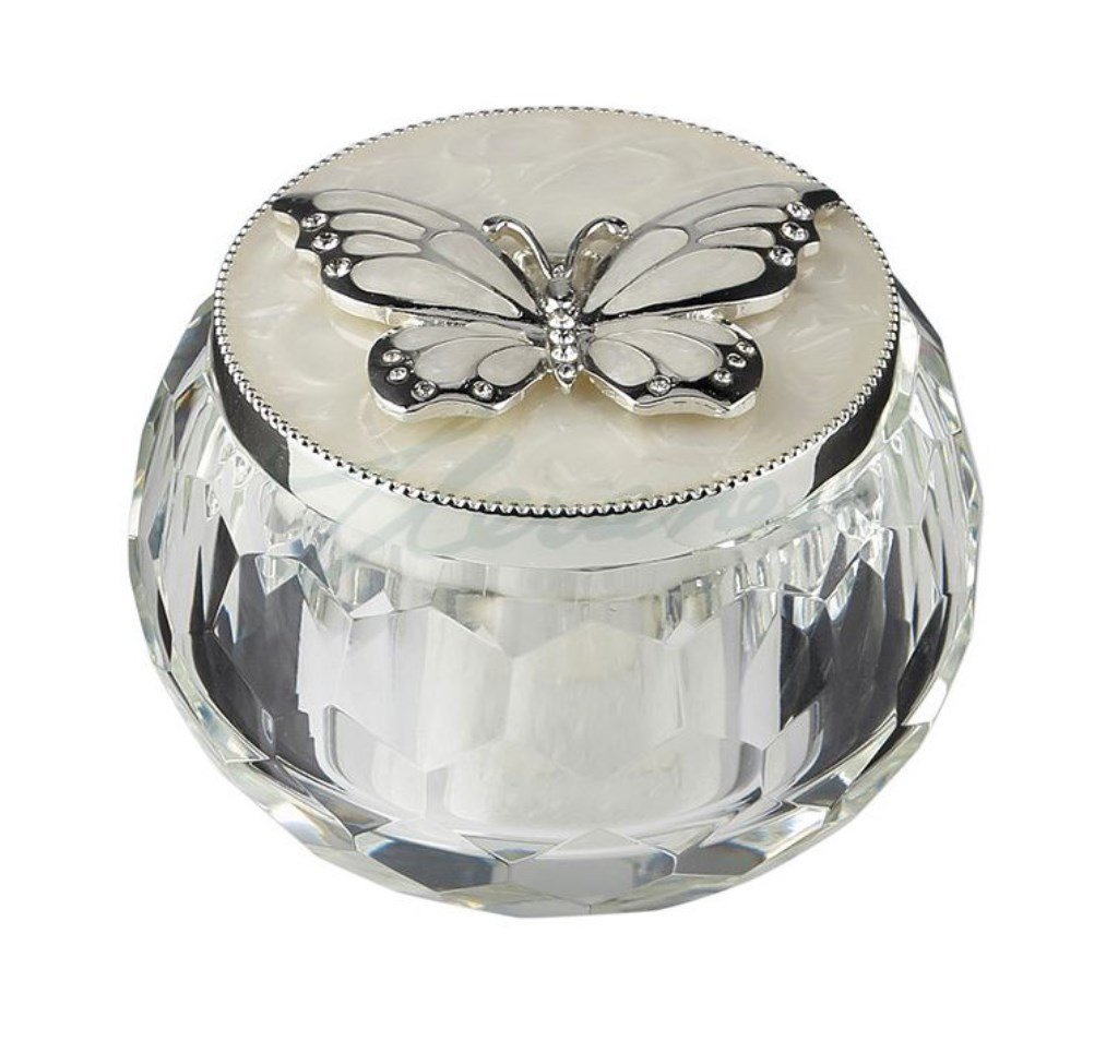 The Butterfly Trinket Box Silver Butterfly 3 Inch L Masada Goods