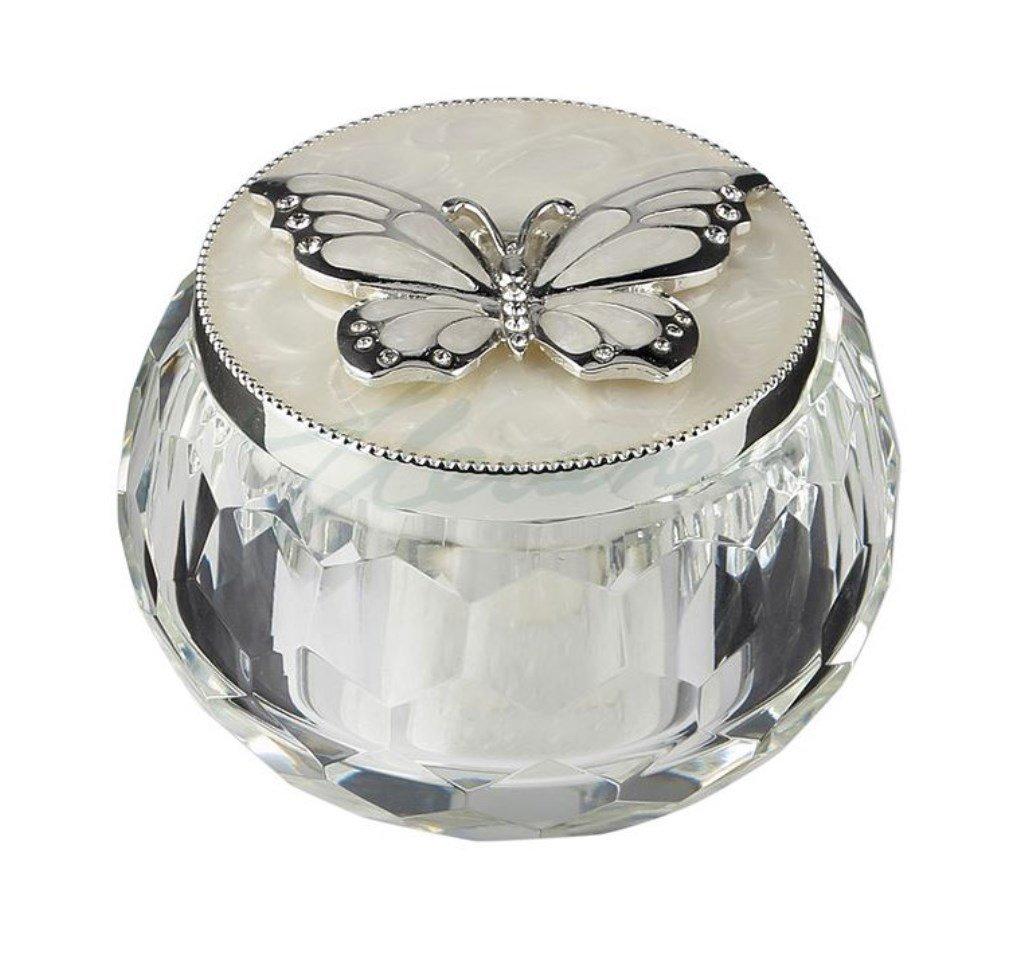 The Butterfly Trinket Box Silver Butterfly 3 Inch L