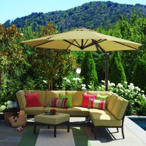 Garden Winds 2011 Round Offset Umbrella Replacement Canopy