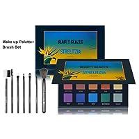 Beauty Glazed Strelitzia 15 Colors Long Lasting Eyeshadow Palette Eye Shadow Make Up Set With 7 Pcs Makeup Brushes Kit