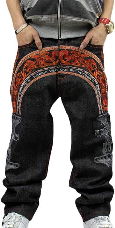 Pantalones Vaqueros Del Dril Del Algodon De Bordado Colorido Negocios Clasico Del Dril De Algodon De Los Hombres Del Dril De Algodon De La Vendimia Pantalones Vaqueros Urbanos Del Denim Amazon Es Ropa