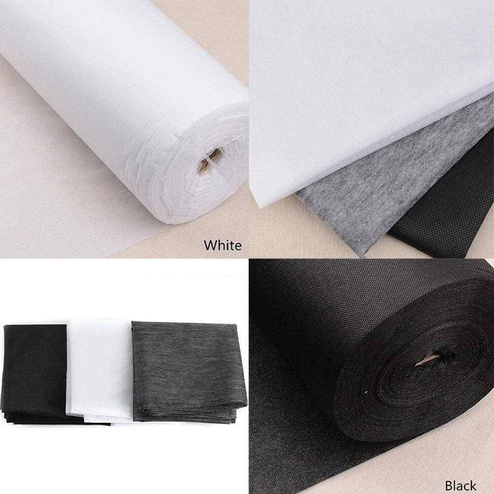 colore: nero si applica con il ferro da stiro peso medio venduto al metro Tessuto termoadesivo per interfodera 70 cm di larghezza