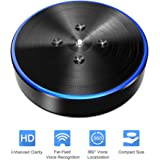 Wireless Conference Speaker - Conference Phone OfficeCore M1 Black Bluetooth Speaker Conferencing Speakerphone 26ft Far-field Voice Recognition 360° Audio Pickup Conferencing System Teleconference
