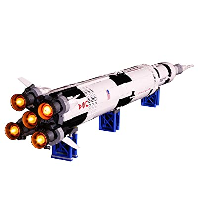 Vonado Lighting Kit for Creative The Apollo Saturn V Launch Vehicle Building Blocks,Compatible Lego 21309 Building Kit Toys Indoor Interior Christmas,Halloween,Birthday Gift(Lights Only): Toys & Games