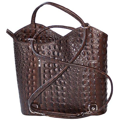 Daypack Bag Rucksack Hobo Shoulder Backpack Handbag Leather Brown Women Dazoriginal qwO68vRR