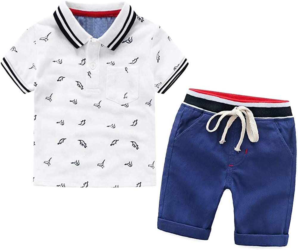 Nwada Baby Boy Clothes Sets Toddler Boys Outfits 2pcs T-Shirts and Shorts Kids Summer Clothing