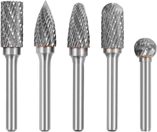 8Pcs 1//4/'/' Shank Double Cut Carbide Rotary Burr Bur Die Grinder Carving Bit~@