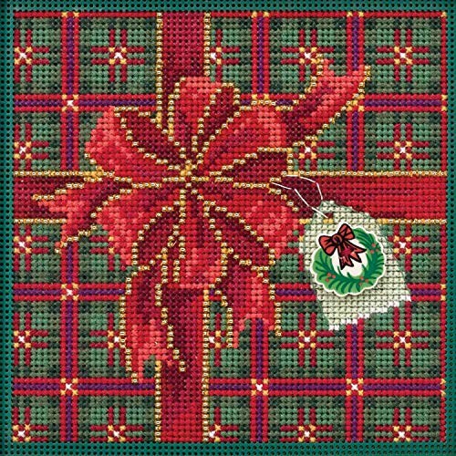 Season of Giving Beaded Counted Cross Stitch Kit Mill Hill Buttons & Beads 2019 Winter Series - Kit Mill Stitch Cross