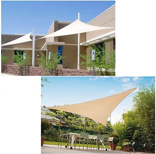 LINGKY Toldo Vela De Sombra Impermeable Triángulo 5 X 5 X 5 Metros Protección UV (2x2x2m, Rojo Anaranjado): Amazon.es: Jardín