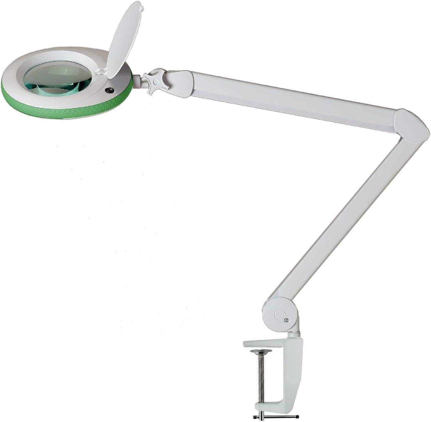 Lentille avec 3 Cabinet m/édicale Vert 3 dioptries Loupe dagrandissement Lumeno Lampe loupe avec 96 LED Bord de Caoutchouc Gris lumi/ère pour Salon de beaut/é 5 ou 8 dioptries