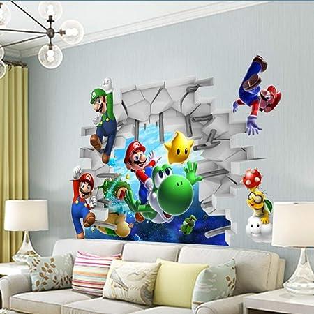 Adesivi Murali Super Mario Bros.Jhfvb Adesivi Murali Super Mario Decorazione Della Camera Dei