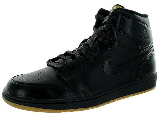 cheap for discount 0e3ac bd5ed Image Unavailable. Image not available for. Color  Nike Men s Air Jordan 1  Retro High OG Basketball Shoe Black Black Gum Light Brown