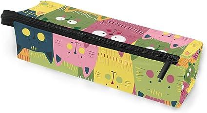 Estuche portátil para gafas, color verde, amarillo y rosa, caja suave para mujeres, niñas y niños, con cremallera, soporte para gafas de sol, estuche para cosméticos, lápices, almacenamiento: Amazon.es: Oficina y papelería