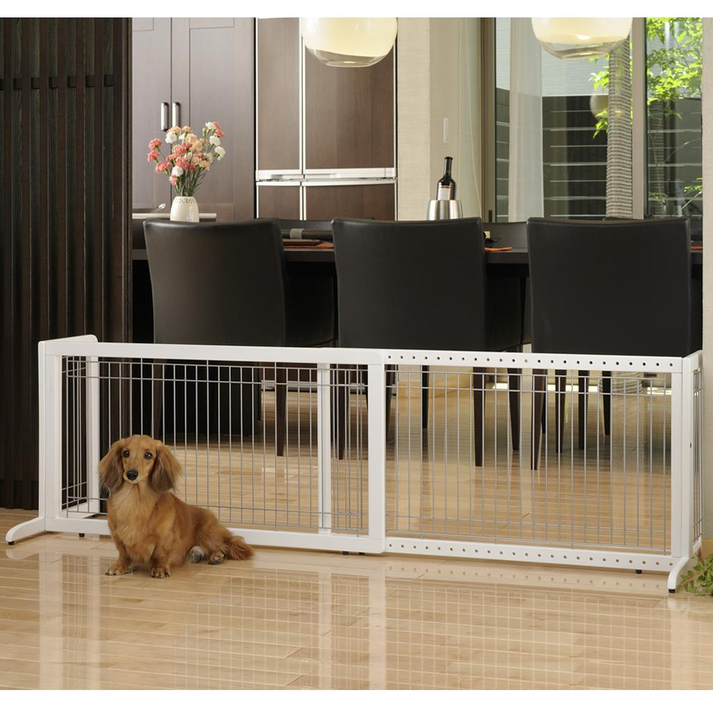 ... Gate Dog Extra Wide Large Wood Safety Adjustable Indoor Barrier - eBay
