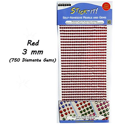 decorative gems red - 7