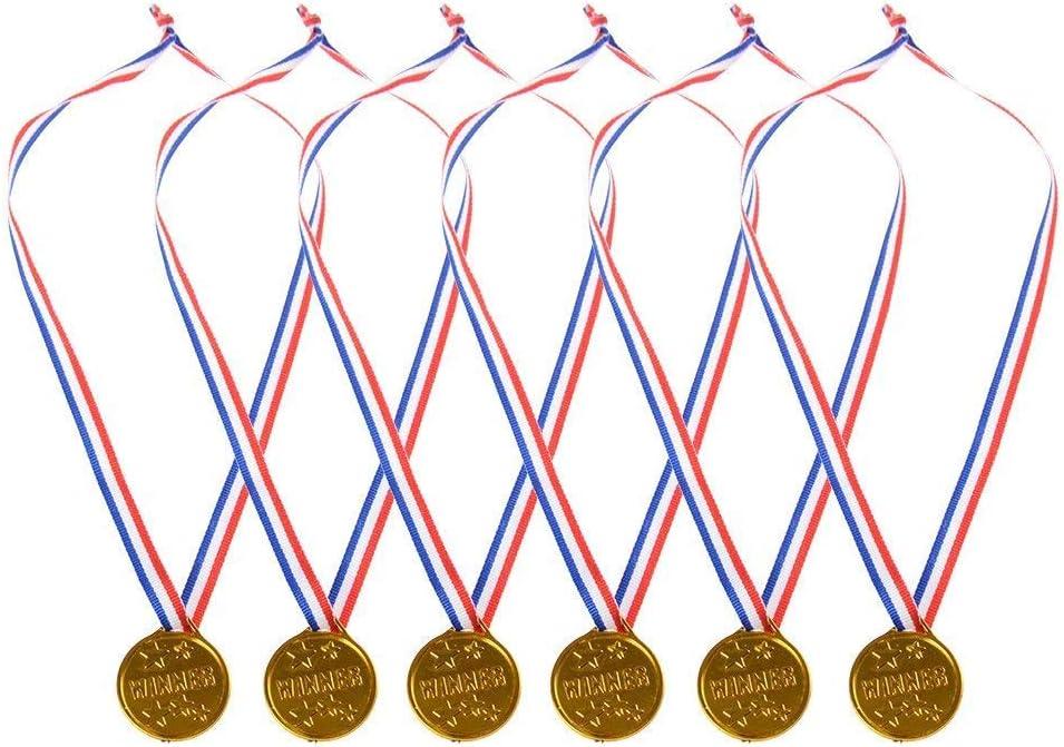 Febbya Medallas para Niños,Medallitas Juguetito de Plástico 30 Piezas Ganadores Medallas Oro Mini Olimpiadas con Cordón para Juegos Fiestas Infantiles Prizzes Regalos Premios 4CM: Amazon.es: Juguetes y juegos