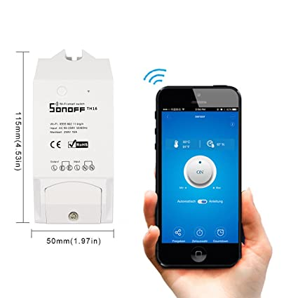 sonoff itead th16 inteligente wifi enchufe, Temperatura y Humedad supervisión Termostato DIY para Smart Home