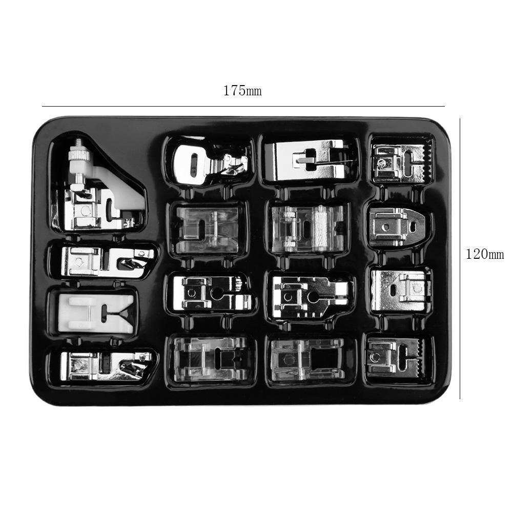 Prensatelas Accesorios para Máquina de coser Matefielduk 16pcs mini tejer punto ciego prensatelas kit hogar máquina de coser pies: Amazon.es: Hogar