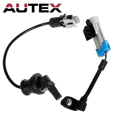 Autex 2Pc ABS Wheel Speed Sensor Front Rear