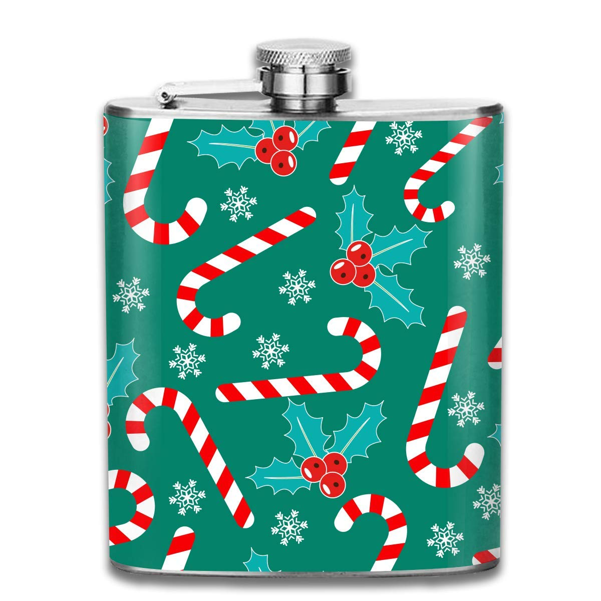 Ejdkdo Romantic Christmas Stainless Steel Flask Wearproof 7OZ Hip Flask Pocket Flagon Whiskey Wine Flagon Mug