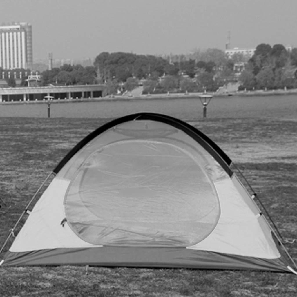 YaNanHome Zelt im Freien Doppeltes regendichtes Zelt-Aluminiumpfostenzelt 2-3 Leute, die Zelt Zelt (Farbe : Blau, Größe : 220  180  130cm)