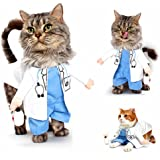Angelwing Pet Doctor Dog Cat Costume Clothes Funny Cosplay Small Puppy Party