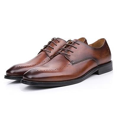 GTYMFH Sommer Kleidung Herrenschuhe Business Casual Herren Schuhe Leder  Atmungsaktiv Lederschuhe,Brown1-38 f5f1ceb6fd