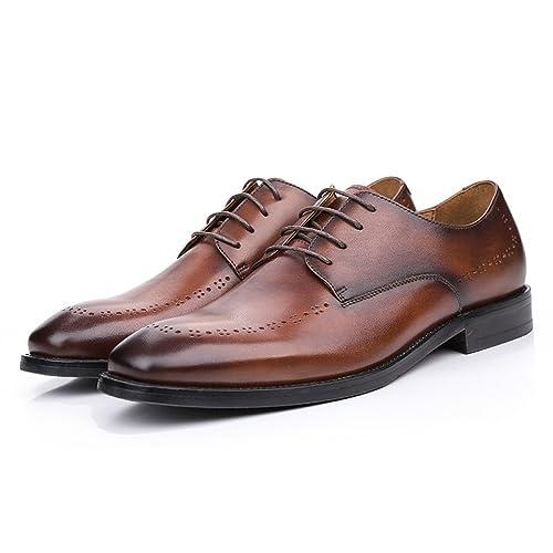 798a7b5c Zapatos De Verano De Vestir De Hombre De Negocios Casuales De Hombre De  Calzado De Cuero Transpirables De Cuero: Amazon.es: Zapatos y complementos