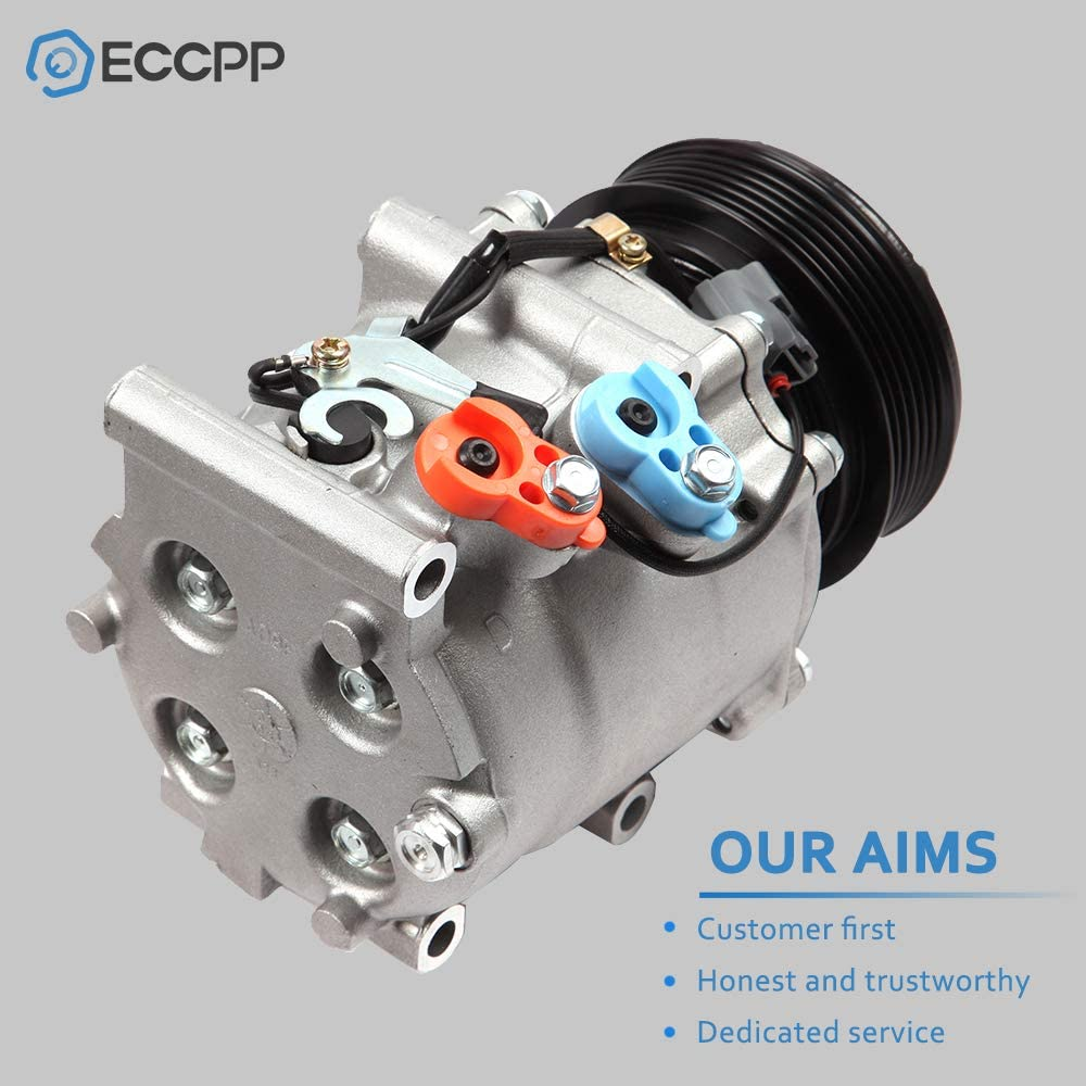ECCPP AC Compressor with Clutch Compatible with 2001 Honda Civic Acura EL 1997-2001 Honda Prelude 2.2L CO 10541AC