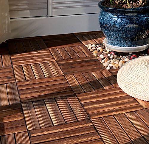 GRENSS Alfombra de exterior, suelo de tarima,piscina,madera carbonizada: Amazon.es: Hogar