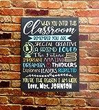 When You Enter This Classroom Teacher Sign Classroom Wall Decor Canvas