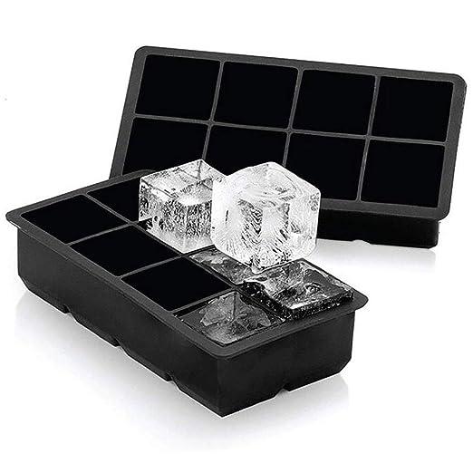 VieVogue - Bandejas para cubitos de hielo, grande, de silicona ...