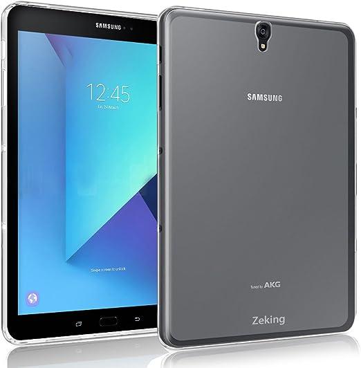 Amazon Com Samsung Galaxy Tab S3 9 7 Case Zeking Ultra Slim Thin Anti Scratch Tpu Rubber Soft Skin Silicone Premium Protective Case Cover Samsung Galaxy Tab S3 9 7 T820 T825 Transparent