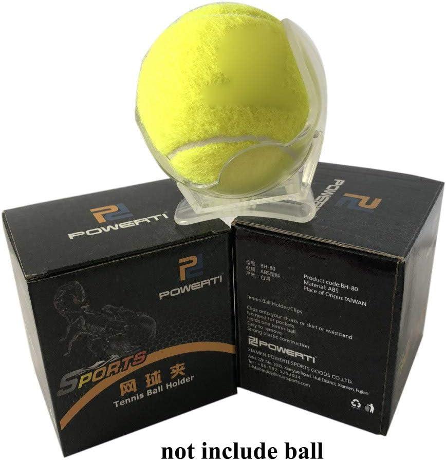 Leezo Professional Tennis Ball Clip Tennis Ball Holder Waist Clip Transparent Holds Training Equipment Tennis Ball Accessories Durable and Portable Single Tennis Ball Waist Clip