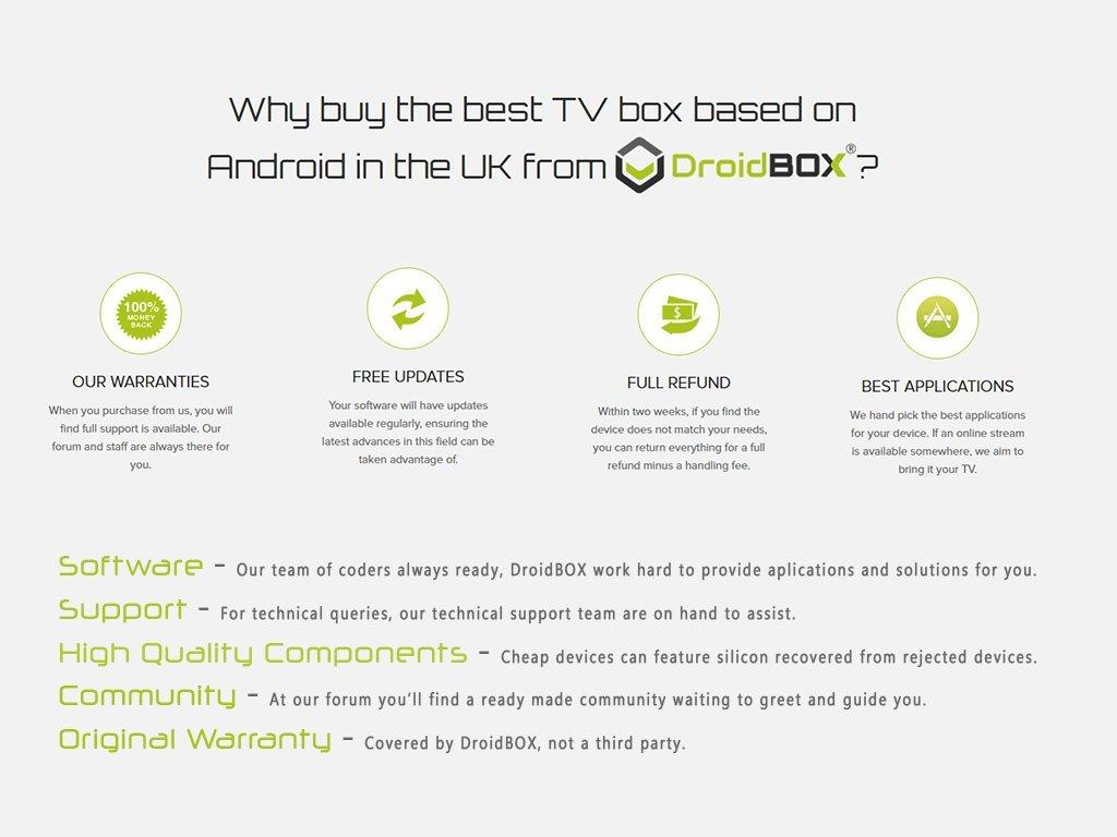 DroidBOX T8-SE with IR Remote Android 7 1 2 Nougat Powered Mini Computer  LibreELEC 8 Amlogic Smart TV BOX Chipset S905X GPU Mali-450MP 2GB RAM 32GB