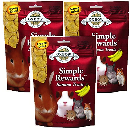 - Oxbow SIMPLE REWARDS Treats - Rabbits Guinea Pigs Chinchillas BANANA 1 oz 3 PACK