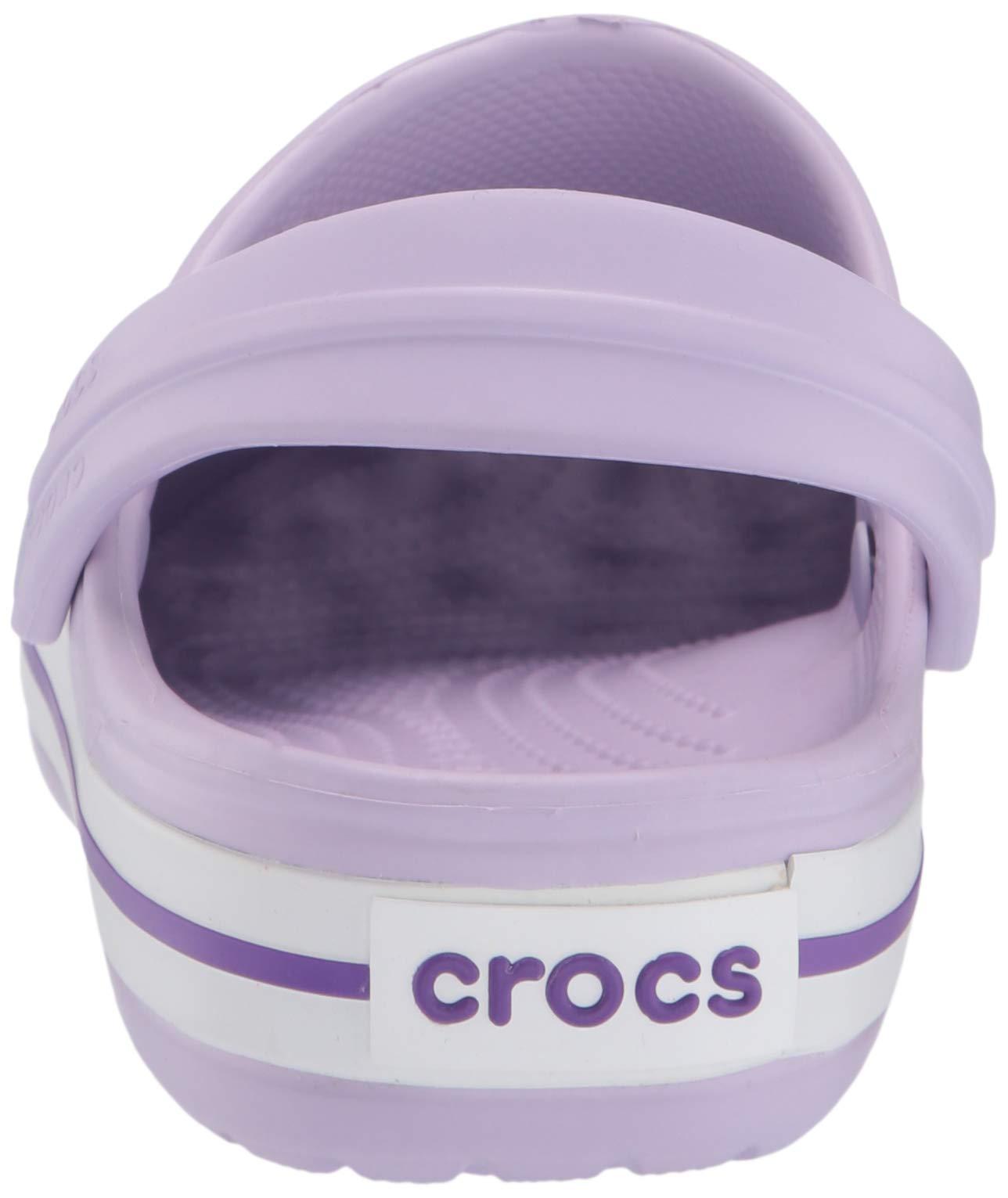 Crocs Kids' Crocband Clog, Lavender/Neon Purple, 10 M US Toddler by Crocs (Image #2)
