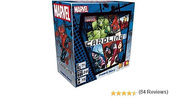 Asmodée-CARMAR01-Juegos de Cartas Cardline Marvel: Amazon.es: Juguetes y juegos