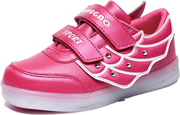 edv0d2v266 Kids Child Boy Girls LED Light Up Shoes Fashion Sneaker