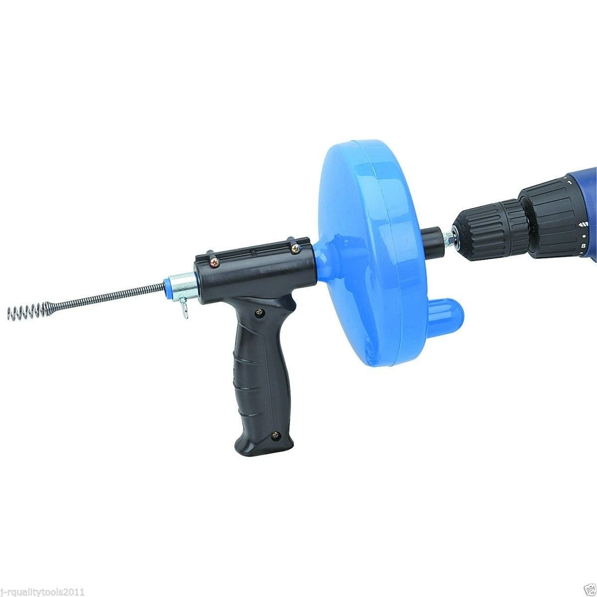 Hand Crank Or Drill Operated Powered Plumbing Drain Cleaner Snake Cable Tool by Vector tools
