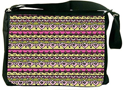 Snoogg Aztec Pinklaptop Rucksack Computer Padded compartiment draagtas Laptop Shoulder Messenger Bag kbKPy2a