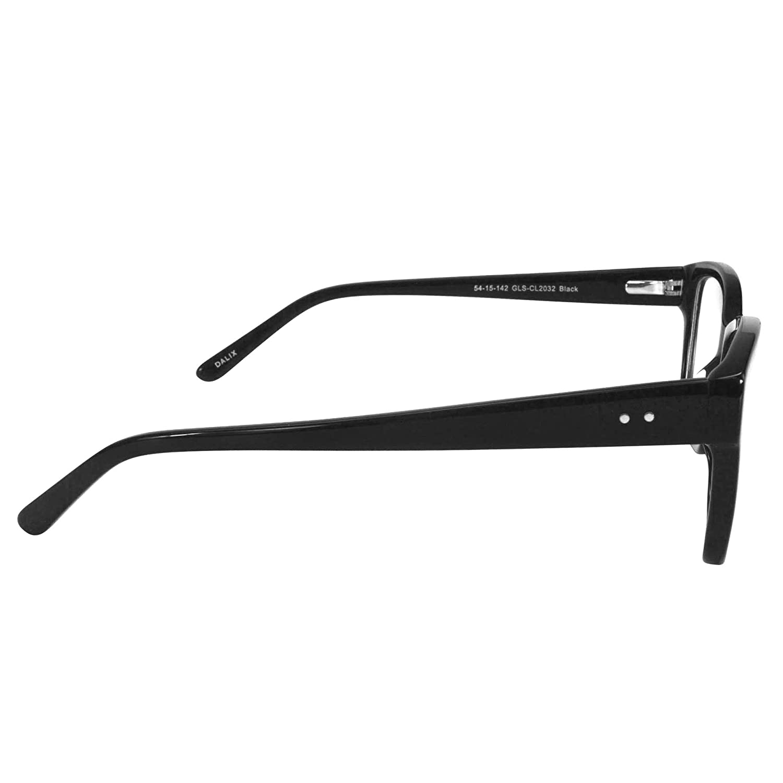 de70c7dd7480 Amazon.com  Womens Glasses Frames Black Prescription Eyeglasses Rxable 54-17-142   Clothing