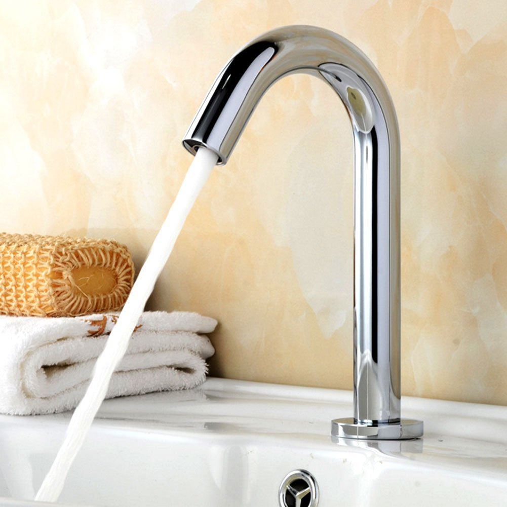 Touchless Faucet Premium brass (#59) faucet with Infrared Sensor for Bathroom Basin Kitchen Sink/with Hose Control Box / 35x20x10cm